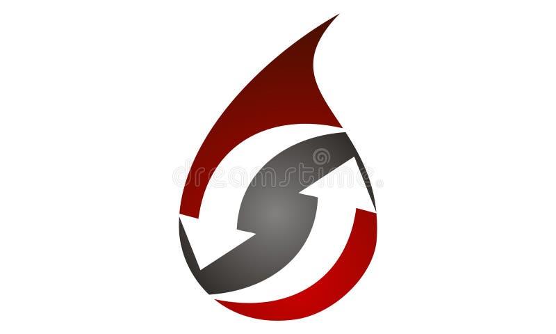 Transfusão de sangue Logo Design Template ilustração royalty free