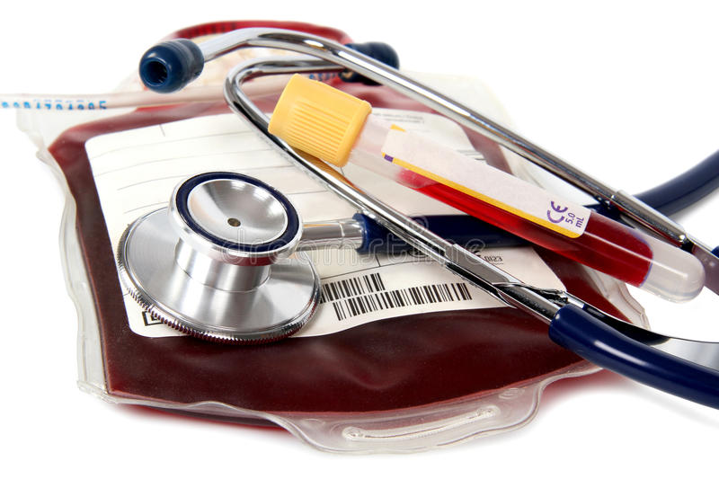 Transfusão ensanguentado - doe fotos de stock