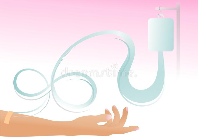 Transfusion sanguine illustration libre de droits