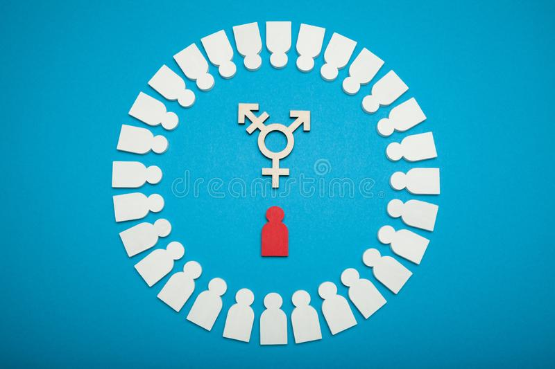 Transgender activism, civil bisexuality concept.  royalty free stock photography