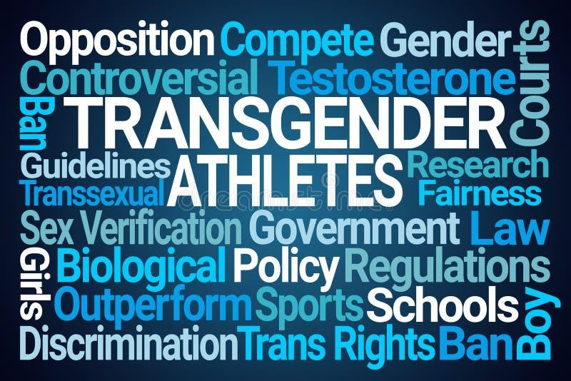 Transgender-Athleten fassen Wolke ab stock abbildung