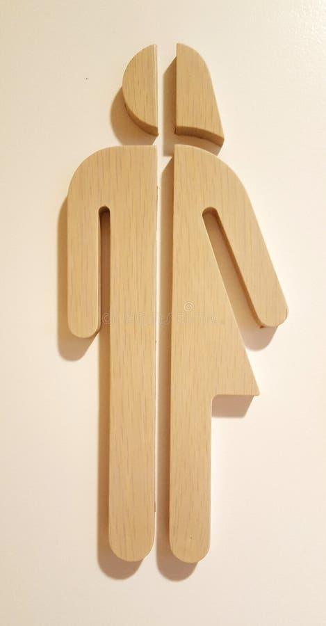 Transgender bathroom sign stock images