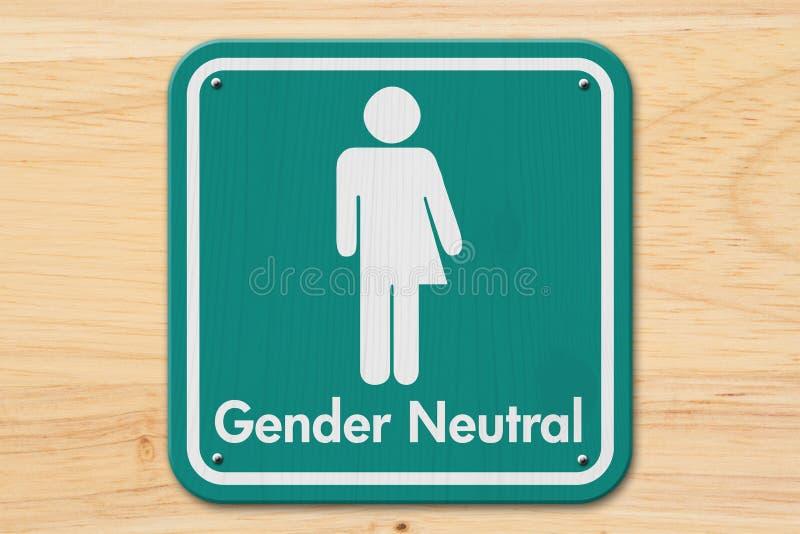 Transgender sign with text Gender Neutral. Transgender sign, Teal and white sign with a transgender symbol with text Gender Neutral on wood