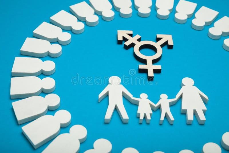 Transgenderaktivismus, Zivilbisexualityfamilienkonzept lizenzfreie stockfotos