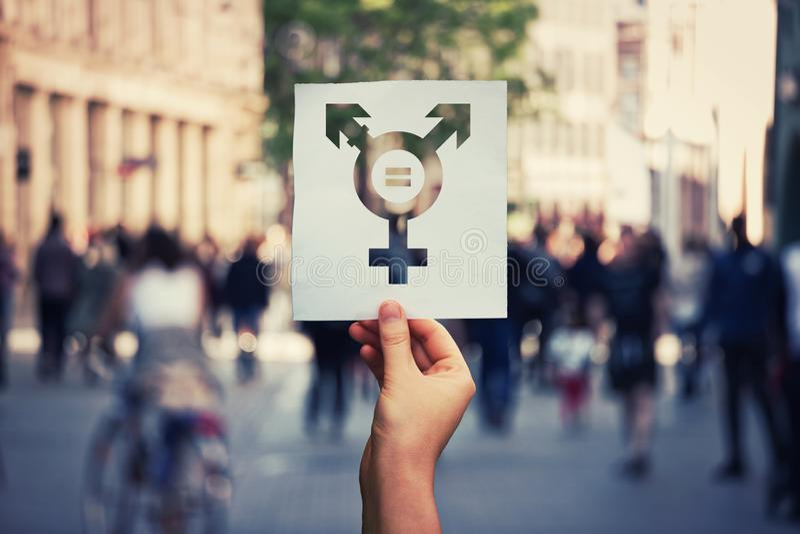Transgendersymbol lizenzfreies stockfoto