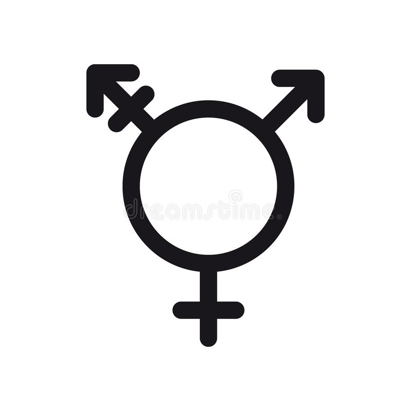 Transgendersymbol Symbol för genus och för sexuell riktning eller teckenbegrepp stock illustrationer