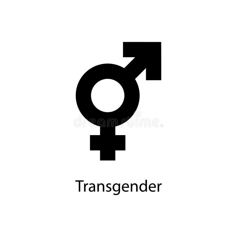Transgenderteckensymbol Beståndsdel av den minimalistic symbolen för mobila begrepps- och rengöringsdukapps Tecken och symbolsaml royaltyfri illustrationer