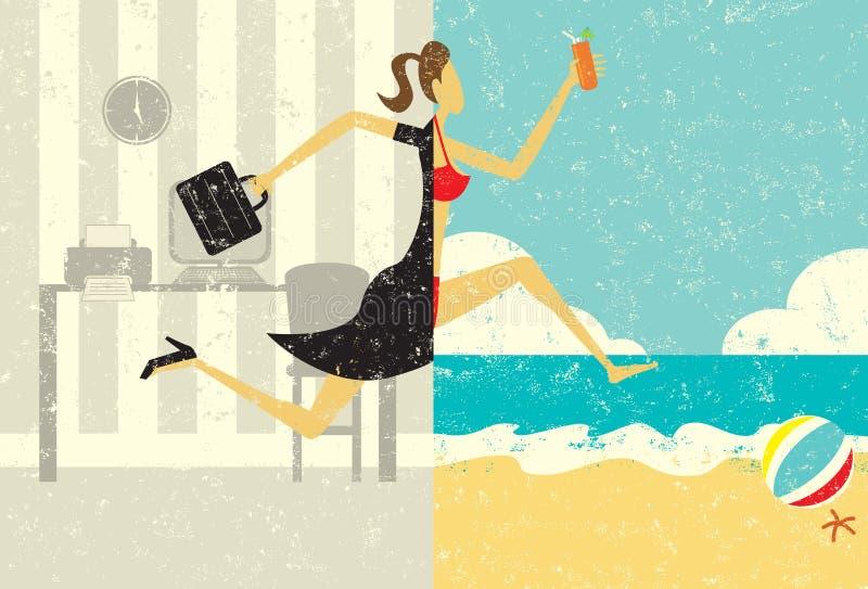 Transição às férias ilustração do vetor