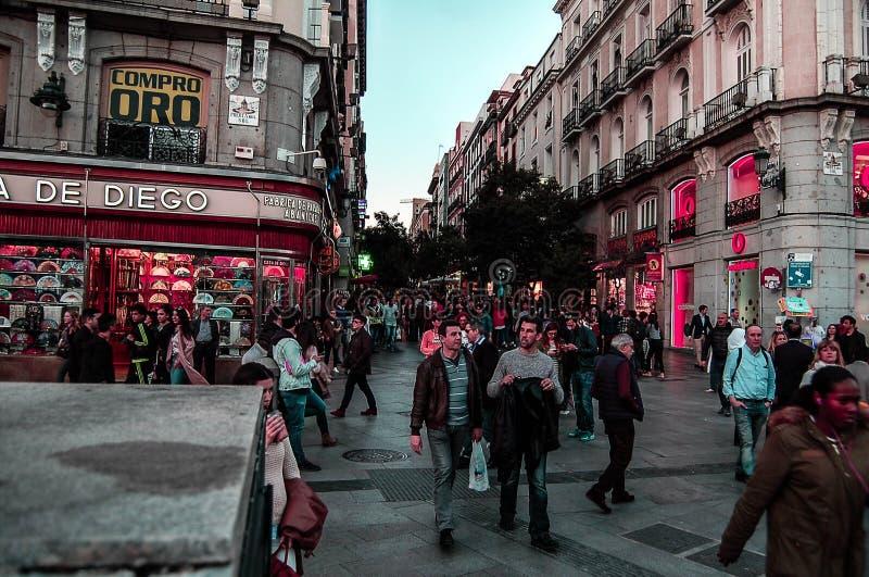 Transición en Madrid fotos de archivo