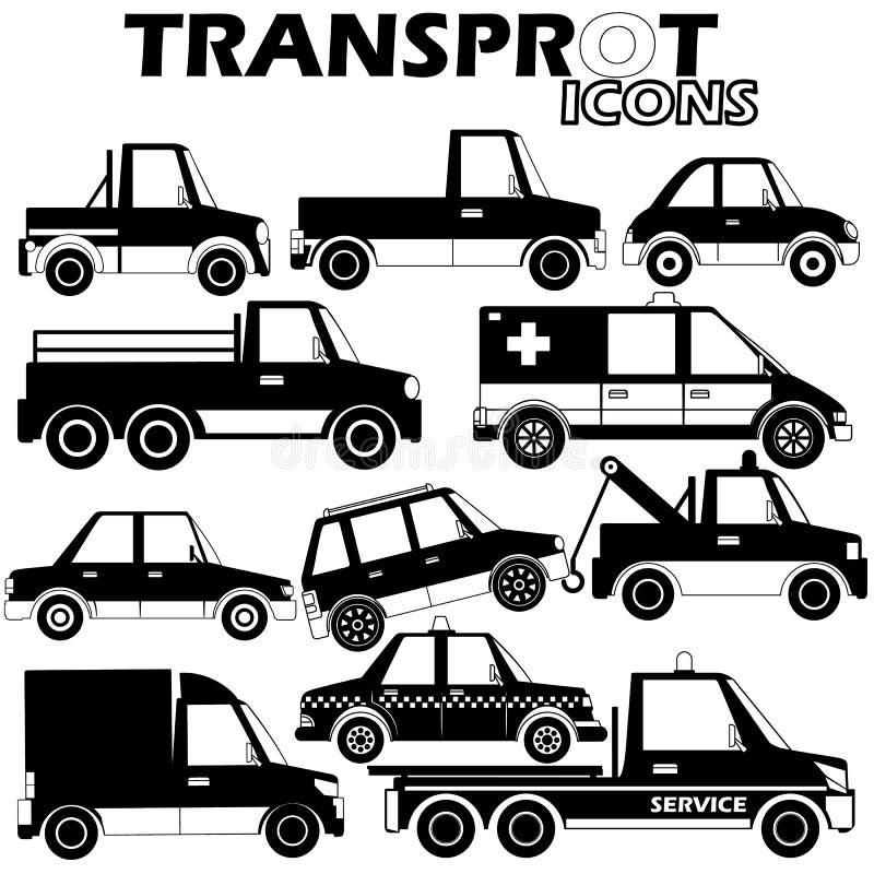 TRANsicons ilustración del vector