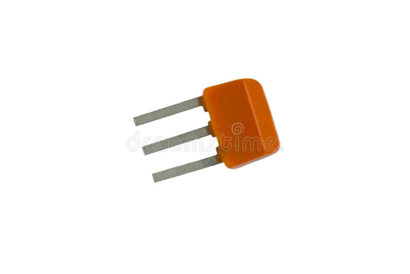 Transistor auf dem Weiß stockfoto