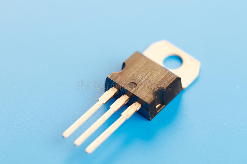 Transistor do semicondutor fotografia de stock royalty free
