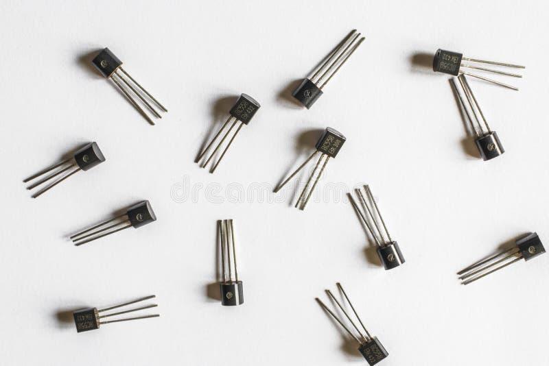 Transistor eletrônicos imagens de stock