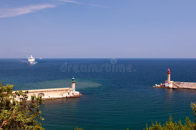 Download Transit In Old Port Of Bastia Stock Image - Image: 17833959