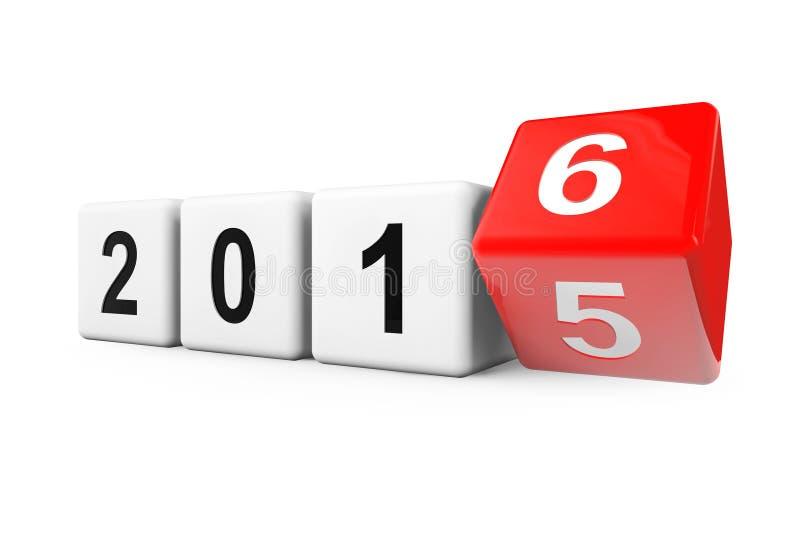 Transition de l'année 2015 à 2016 illustration libre de droits