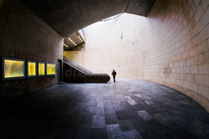 Transition. Underground. Lisbon. royalty free stock images