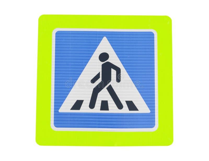Transito del pedone del segnale stradale fotografia stock