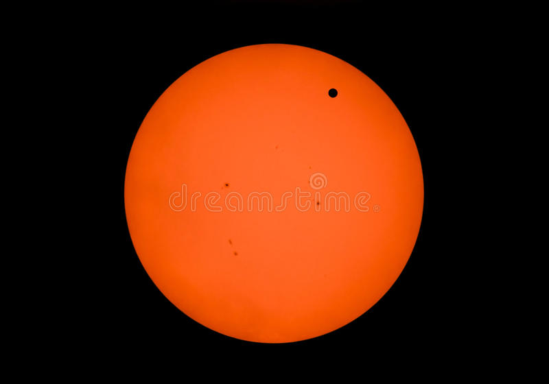 Transito del Venus fotografia stock