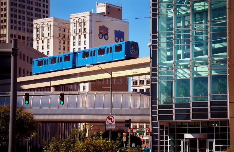 transito pubblico della monorotaia fotografia stock