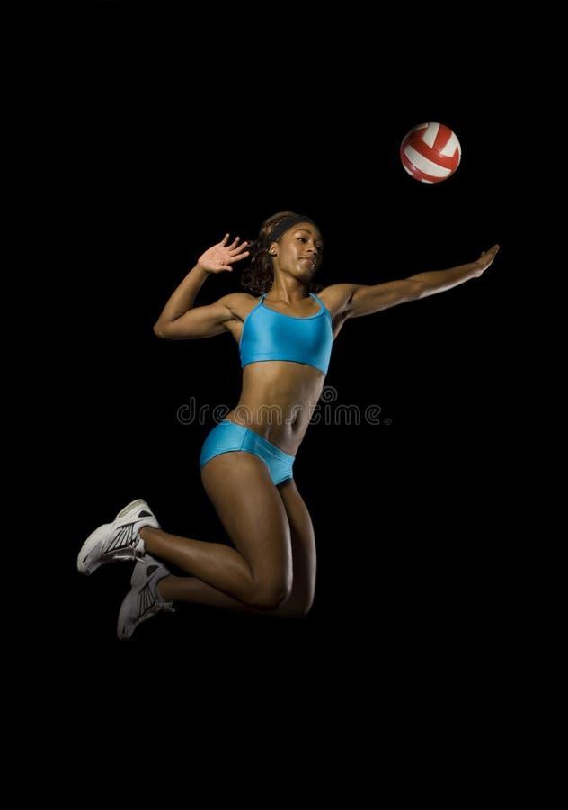 Transitoire femelle de volleyball images libres de droits