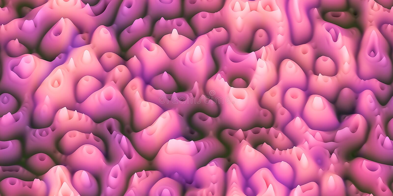 Transitoires cireuses douces comme la cire fondue ou le surfac de corail ou organique illustration de vecteur