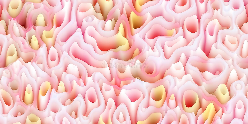 Transitoires cireuses douces comme la cire fondue ou le surfac de corail ou organique illustration stock