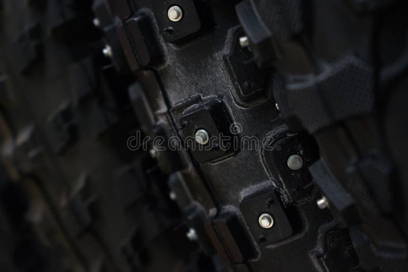 Transitoires sur le pneu de bicyclette photo libre de droits