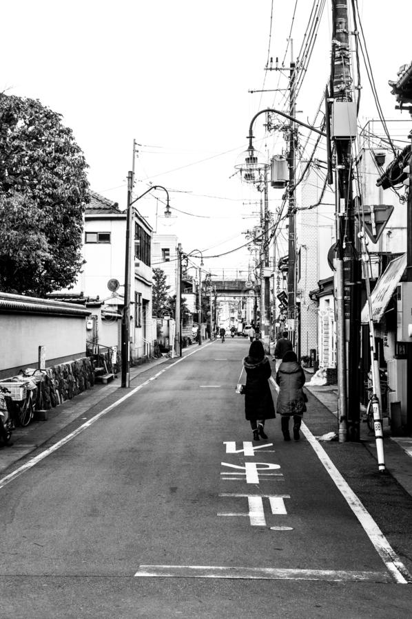 Kyoto street in Japan stock photo