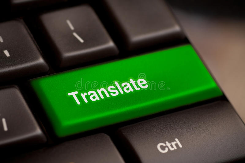 Translate Computer Key. In Showing Online Translator royalty free stock photos