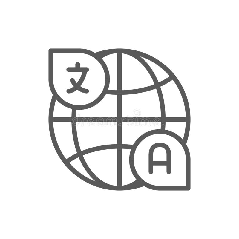 Translation, conversation line icon. vector illustration