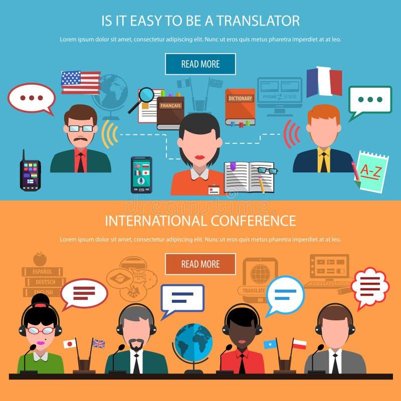 Translation Horizontal Banners royalty free illustration
