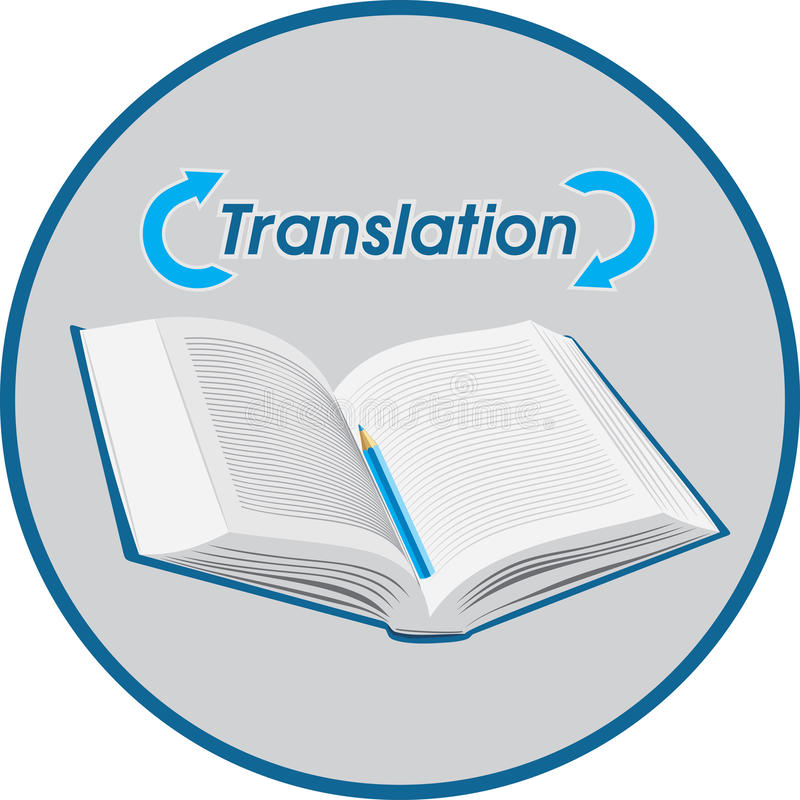 Translation. Icon for design stock images