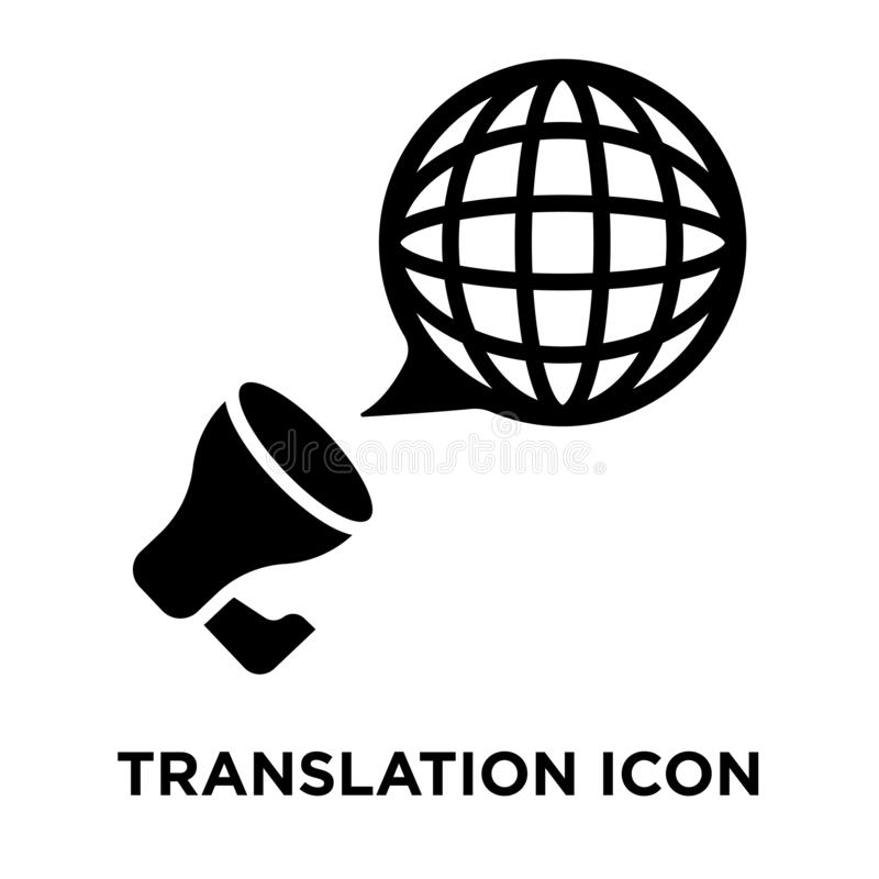 Translation icon vector isolated on white background, logo concept of Translation sign on transparent background, black filled stock illustration