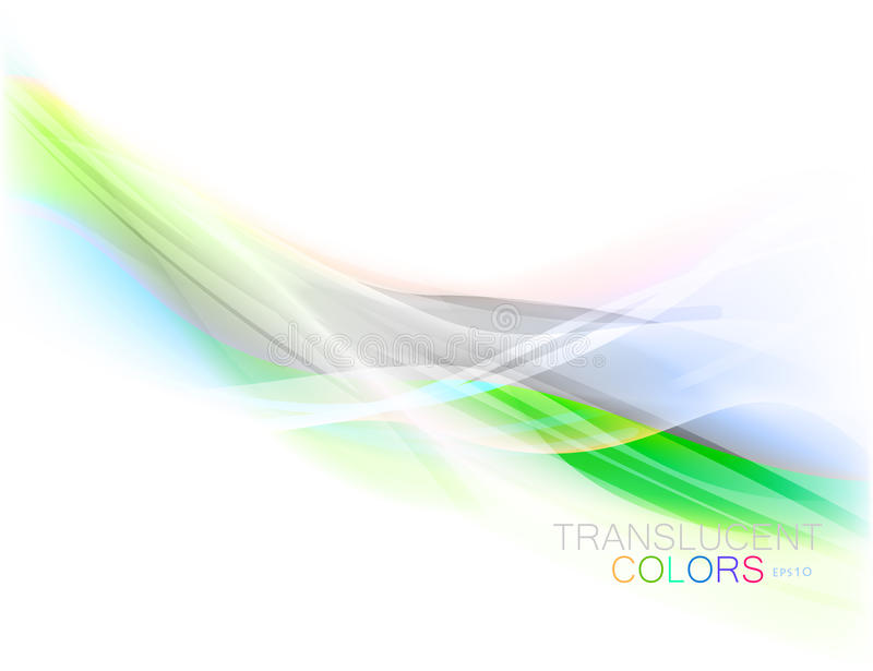 Translucent colors shape scene. Translucent colors wave vector on a white background vector illustration