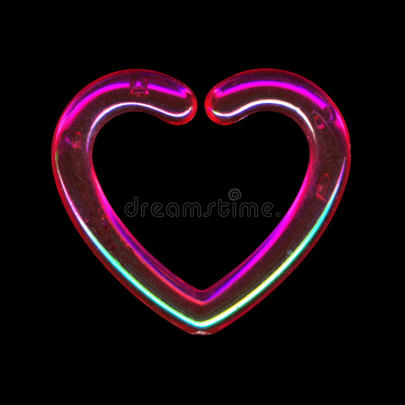 Download Translucent pink heart stock photo. Image of pink, neon - 5984762