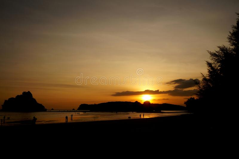 Transmarin skönhet av solnedgången arkivfoto