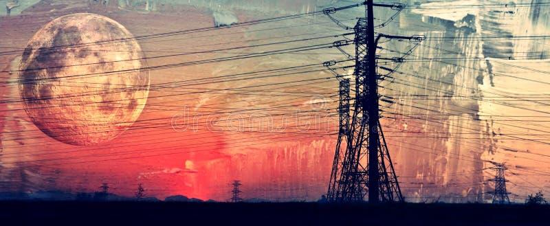 Transmisión de energía eléctrica imágenes de archivo libres de regalías
