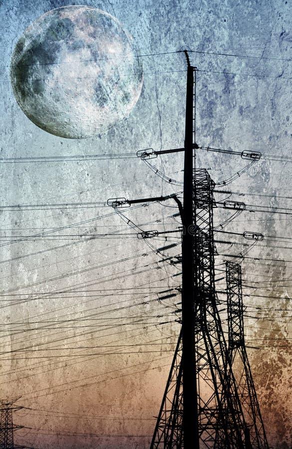 Transmisión de energía eléctrica fotografía de archivo libre de regalías