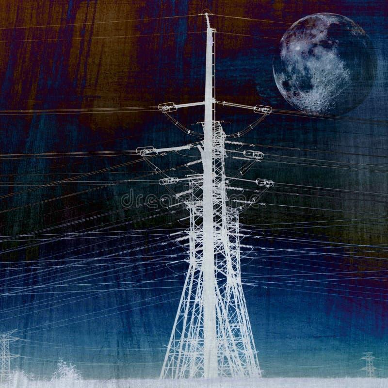Transmisión de energía eléctrica foto de archivo