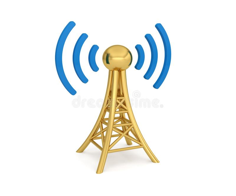 Transmisi?n inal?mbrica de la red 3G 4G 5G de la antena libre illustration