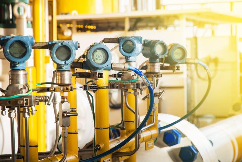 Transmisor de presión, y transmisor de la temperatura foto de archivo libre de regalías