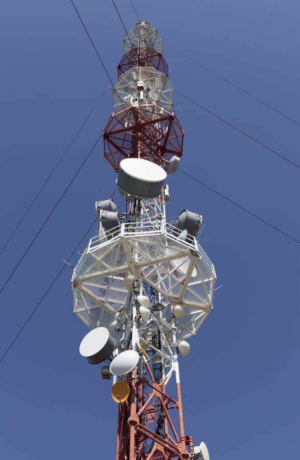 Transmisor de televisión, antena imagenes de archivo