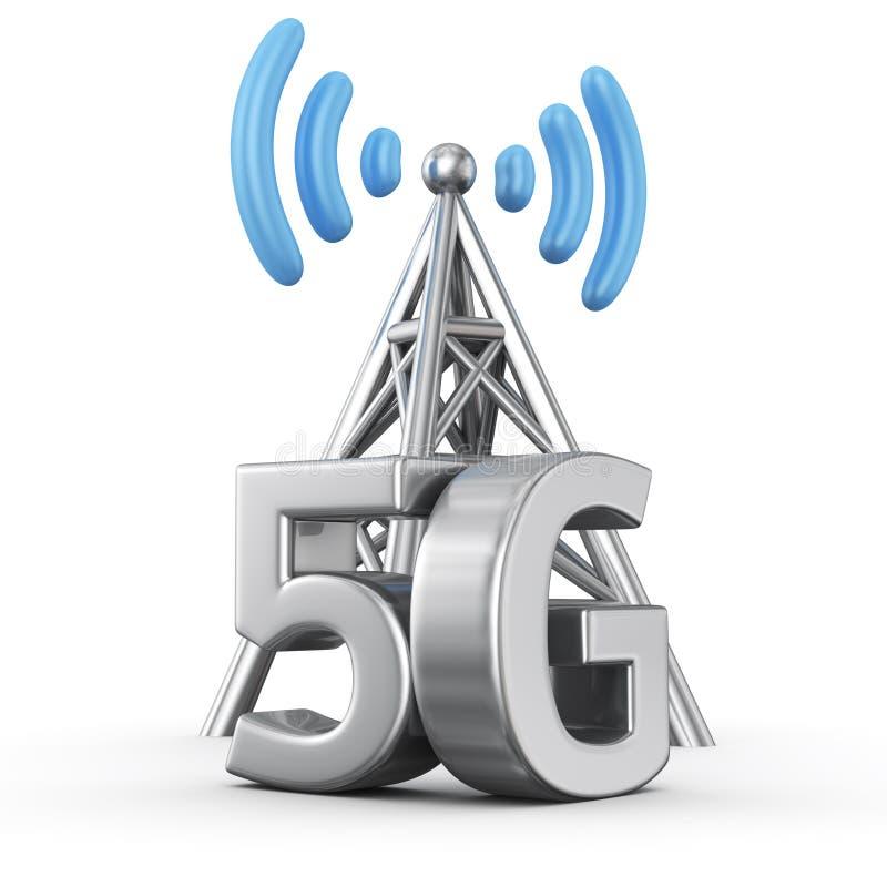 transmisor 5G ilustración del vector