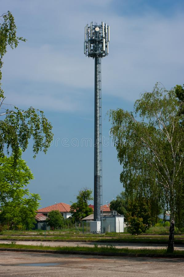 Transmisor para la señal de la transmisión foto de archivo