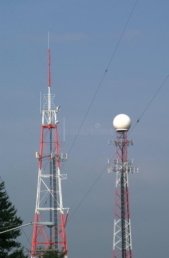 Transmisores De La Torre Fotografía de archivo