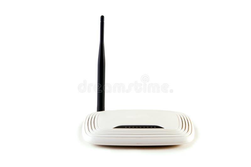 Transmissão de dados, router do wifi, transdução do sinal, isolada sobre foto de stock