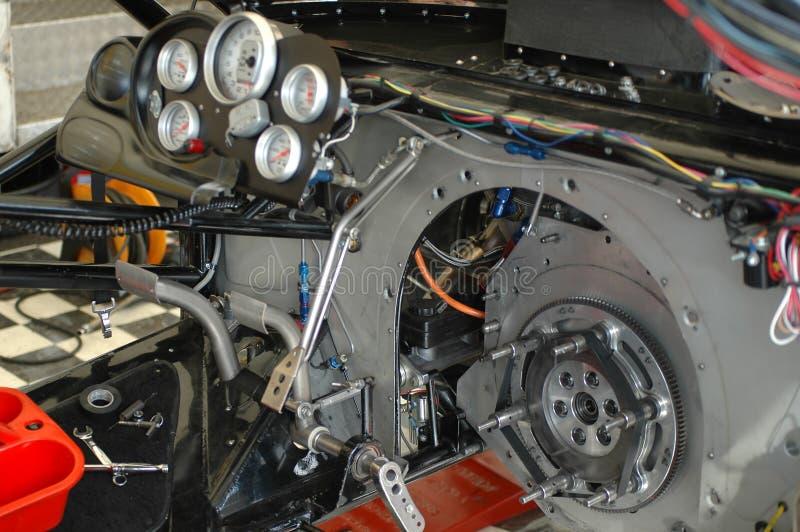 Transmissão do carro de corridas imagens de stock