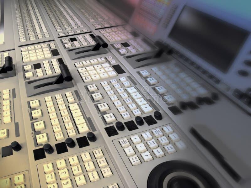 Transmissão video e audio do misturador fotografia de stock