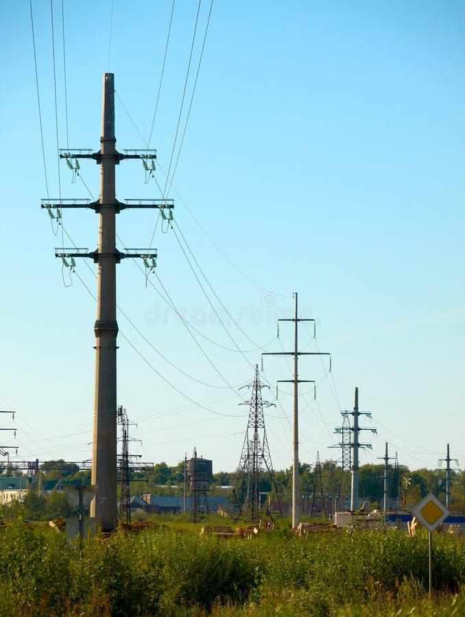 Transmissielijn met hoog voltage royalty-vrije stock foto