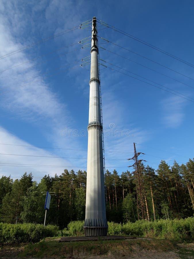 Transmissielijn met hoog voltage royalty-vrije stock fotografie